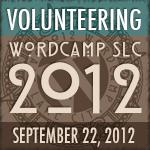 I am Volunteering at WordCamp SLC 2012