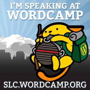 I'm speaking at WordCamp SLC 2015