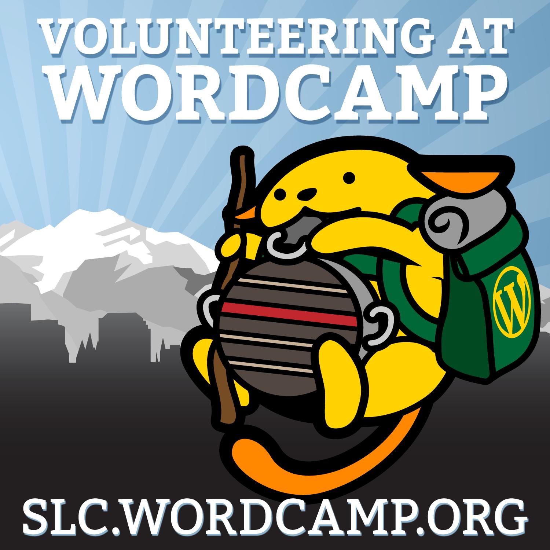 I'm volunteering at WordCamp SLC 2015
